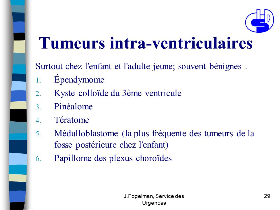 Tumeurs intra-ventriculaires