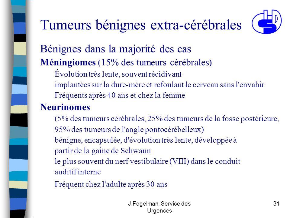 Tumeurs bénignes extra-cérébrales