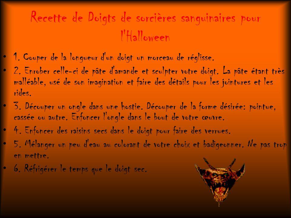 Recette de Doigts de sorcières sanguinaires pour l Halloween