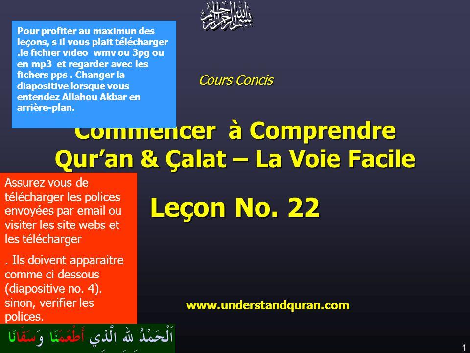 Commencer à Comprendre Qur'an & Çalat – La Voie Facile