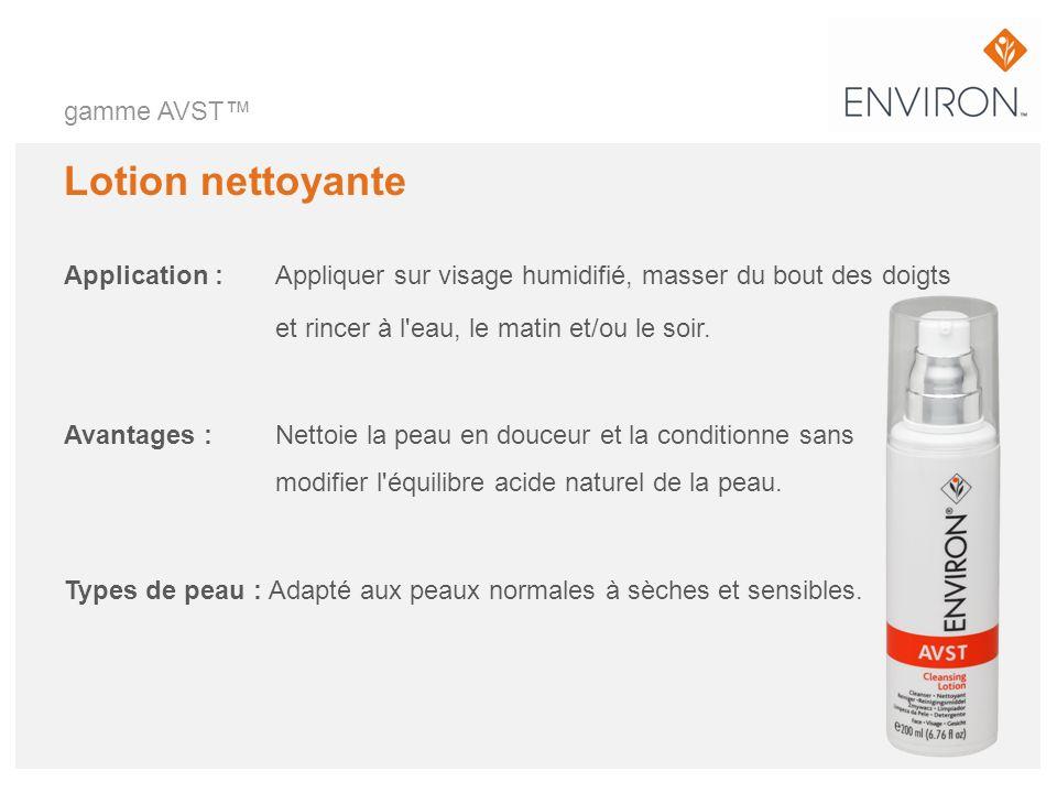 Lotion nettoyante gamme AVST™