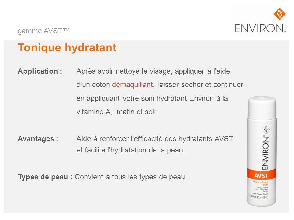 Tonique hydratant gamme AVST™