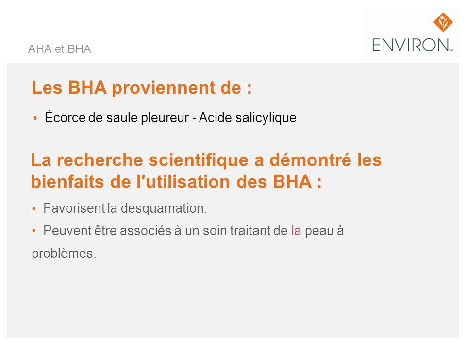 Les BHA proviennent de :
