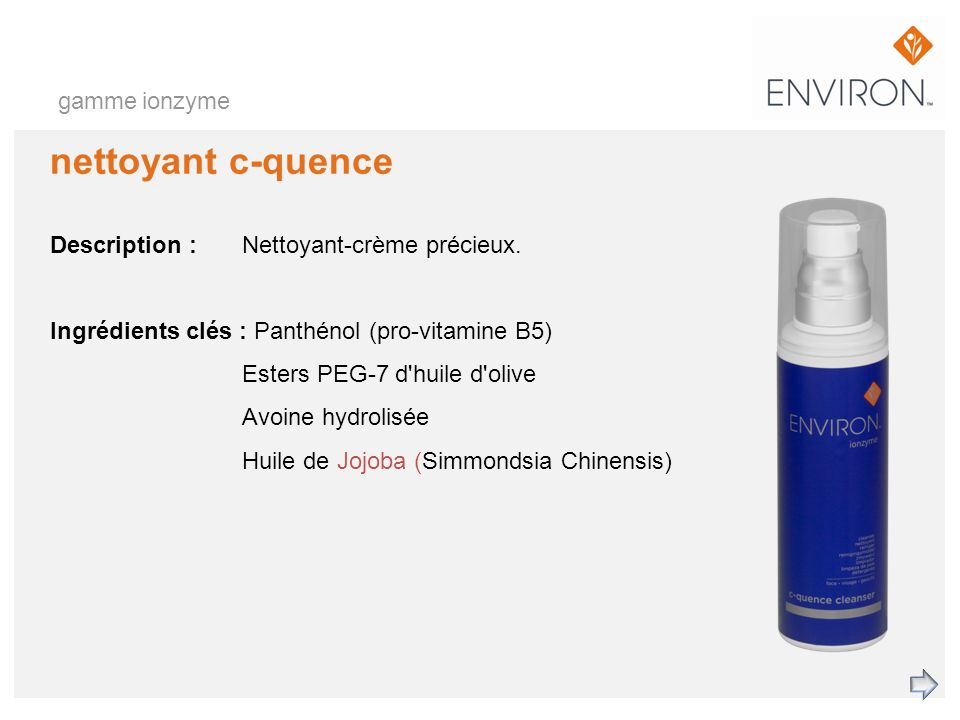 nettoyant c-quence gamme ionzyme