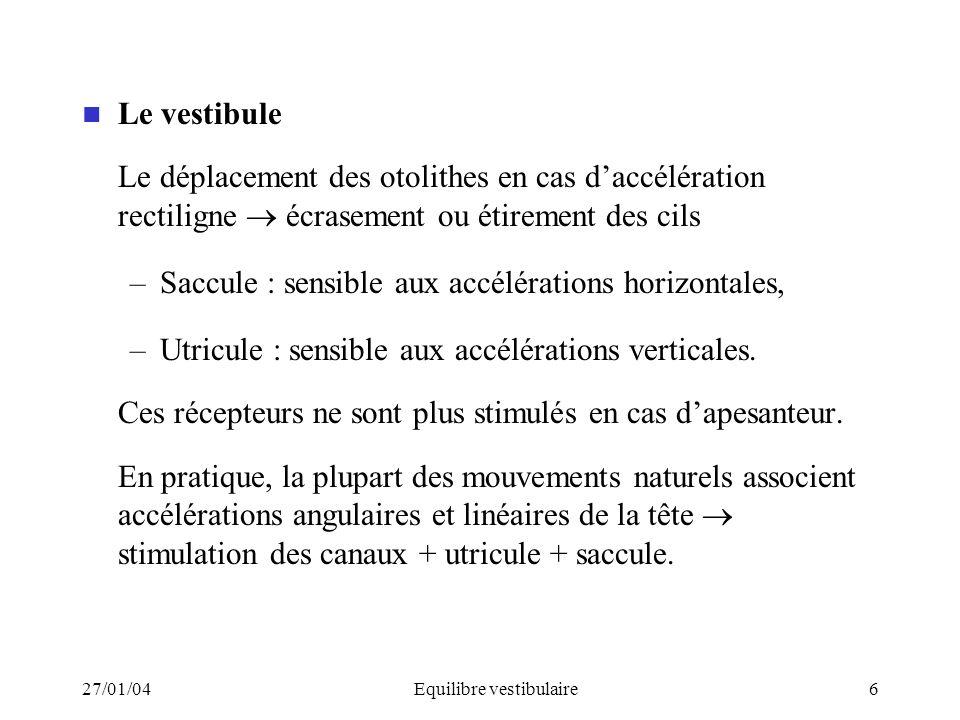 Equilibre vestibulaire