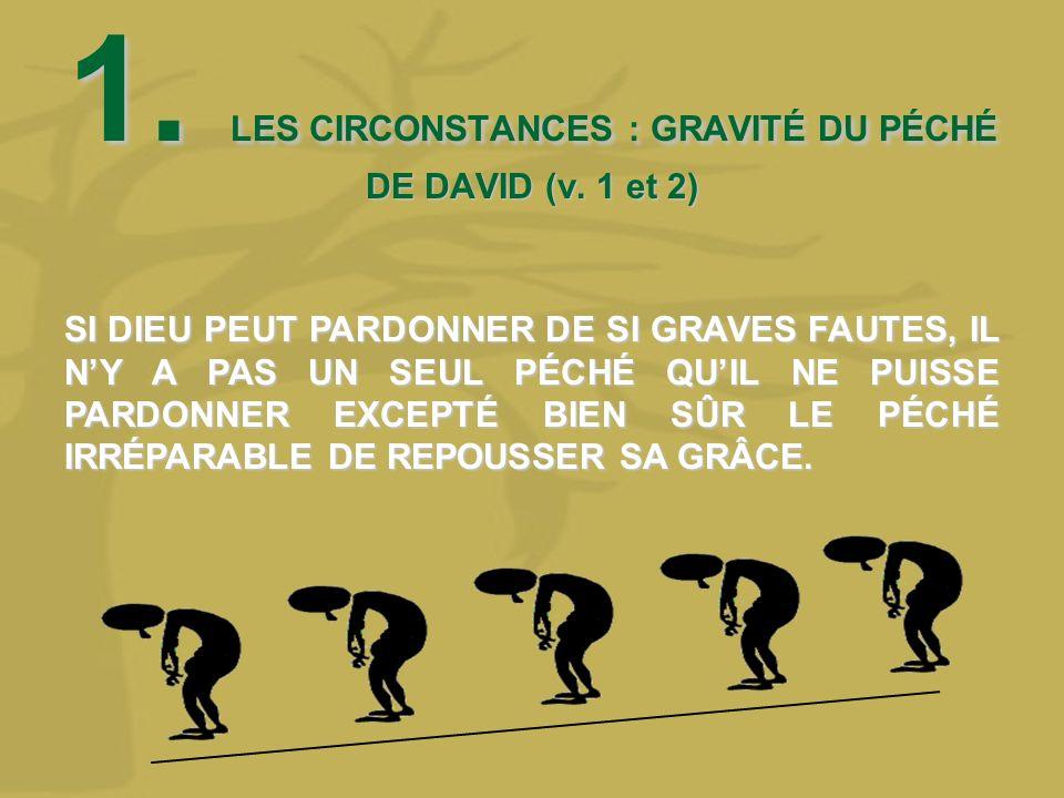 1. LES CIRCONSTANCES : GRAVITÉ DU PÉCHÉ DE DAVID (v. 1 et 2)