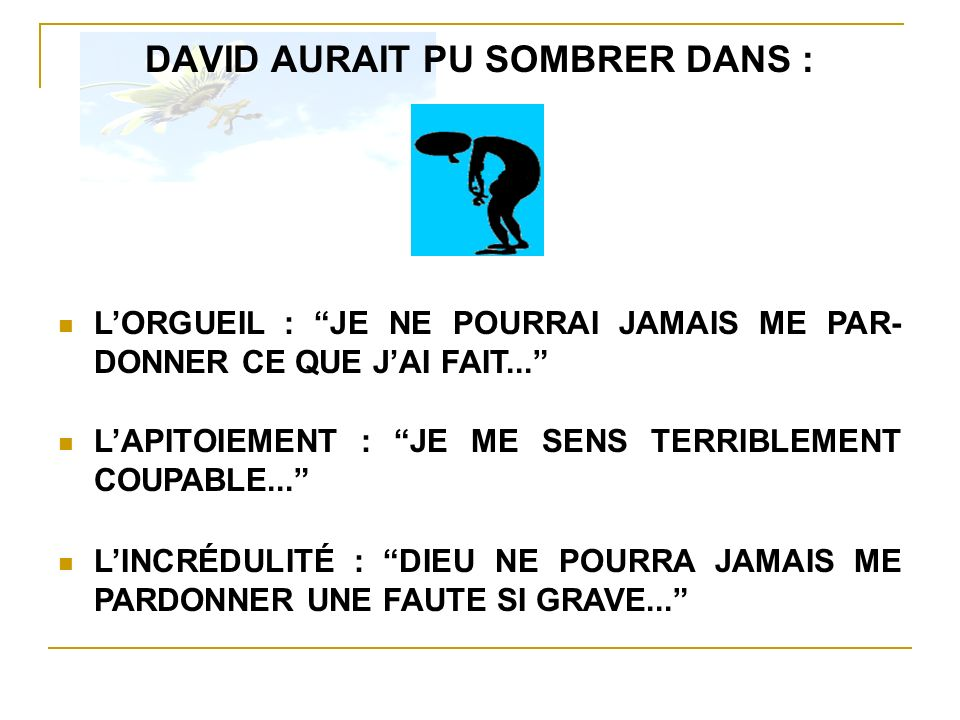 DAVID AURAIT PU SOMBRER DANS :