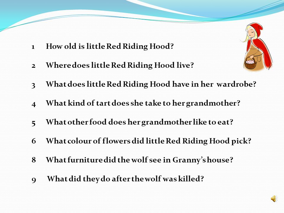 How old is little Red Riding Hood