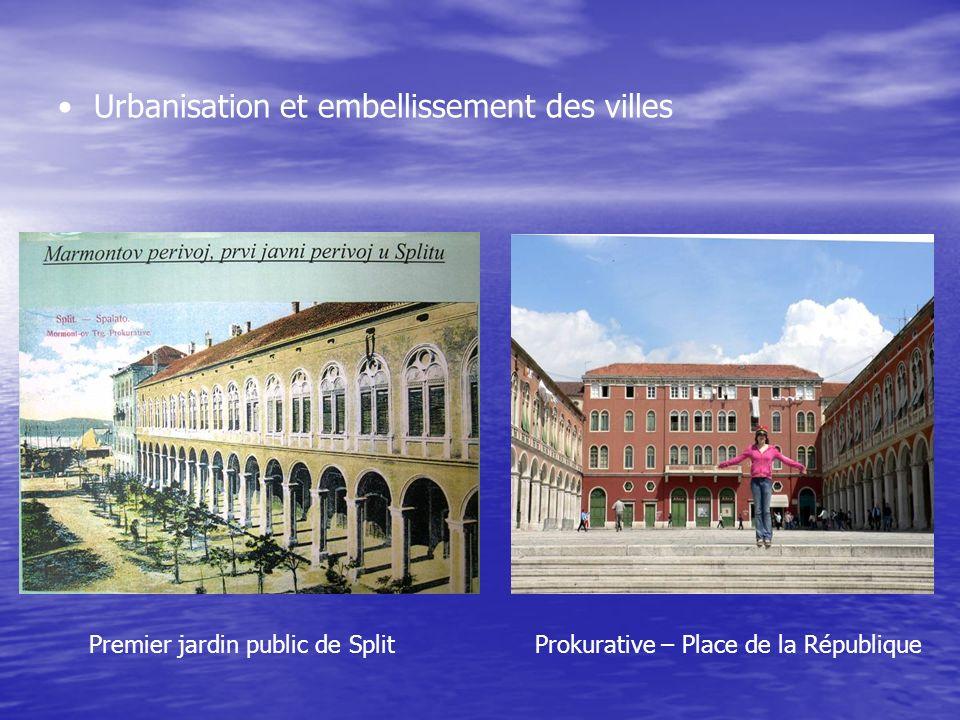 Urbanisation et embellissement des villes