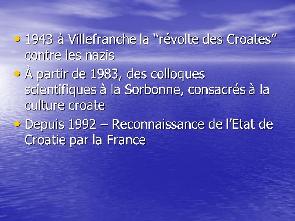 1943 à Villefranche la révolte des Croates contre les nazis