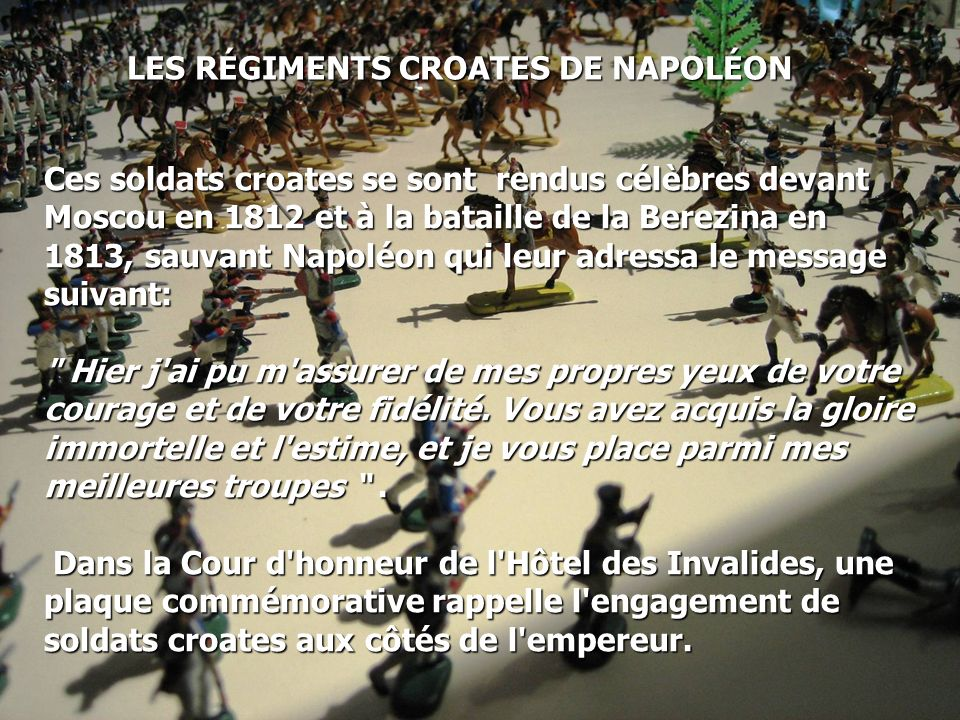 LES RÉGIMENTS CROATES DE NAPOLÉON