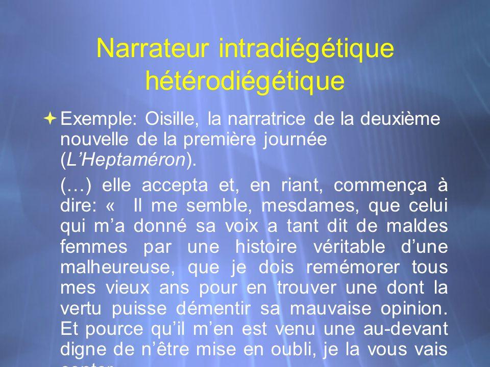 Narrateur intradiégétique hétérodiégétique