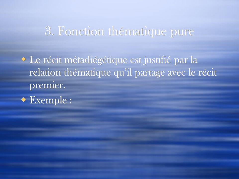 3. Fonction thématique pure