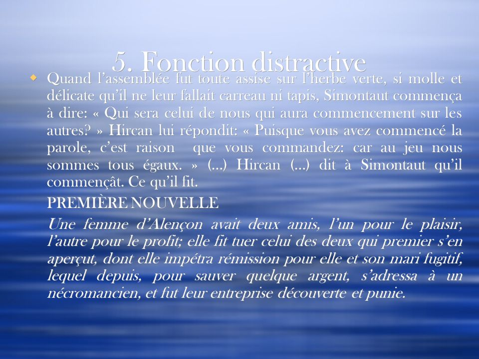 5. Fonction distractive