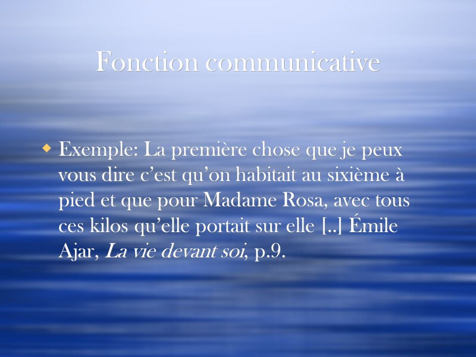 Fonction communicative