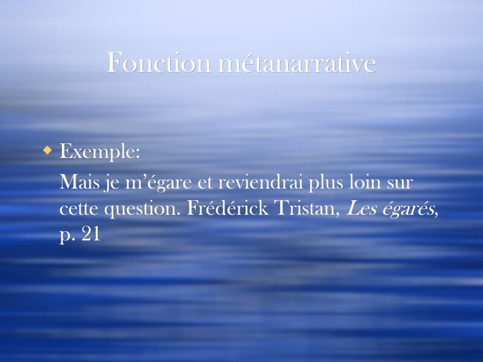 Fonction métanarrative