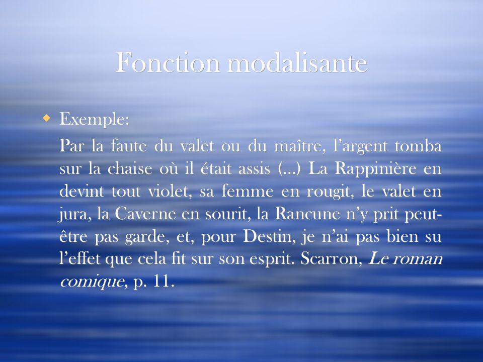 Fonction modalisante Exemple: