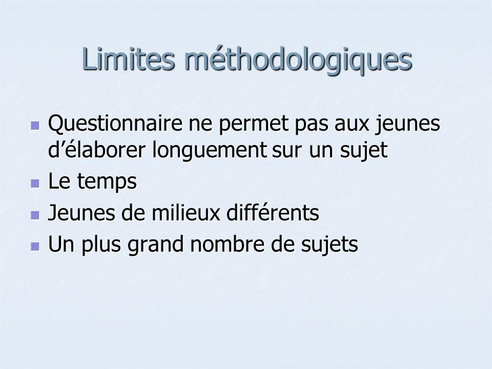 Limites méthodologiques