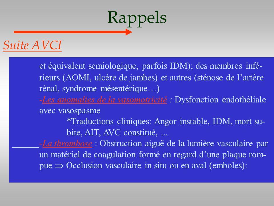 Rappels Suite AVCI.