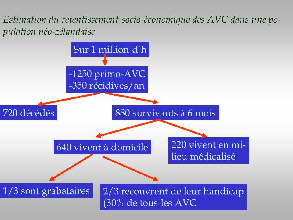 Estimation du retentissement socio-économique des AVC dans une po-