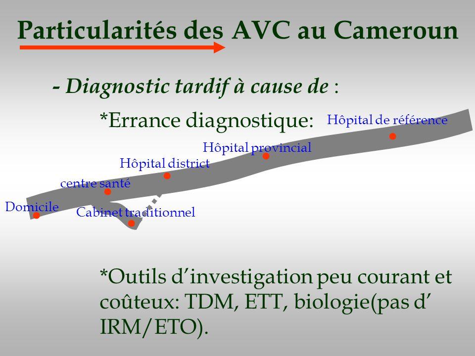 Particularités des AVC au Cameroun