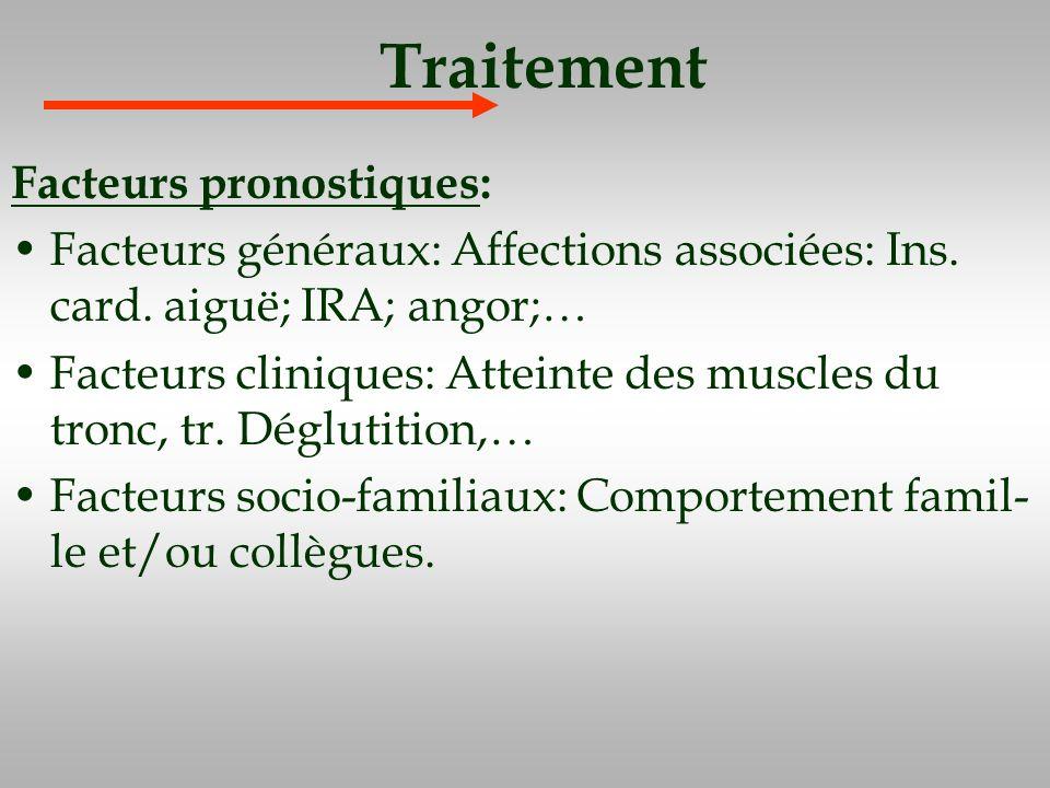 Traitement Facteurs pronostiques: