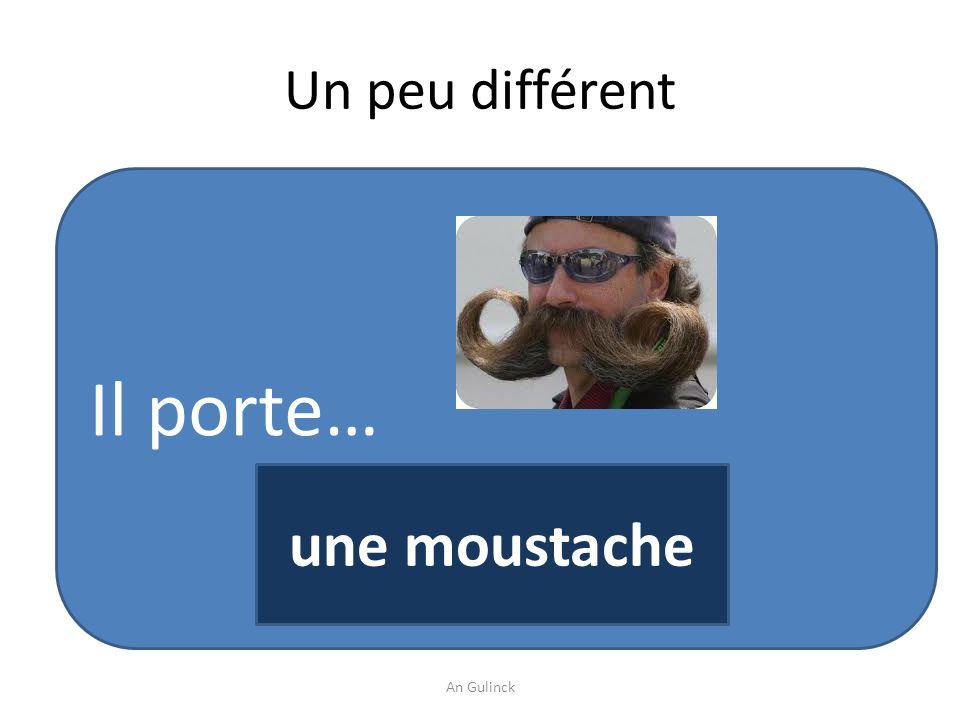 Un peu différent Il porte… une moustache An Gulinck