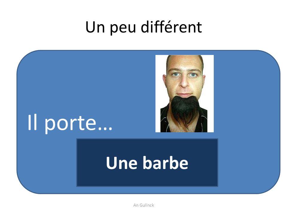 Un peu différent Il porte… Une barbe An Gulinck