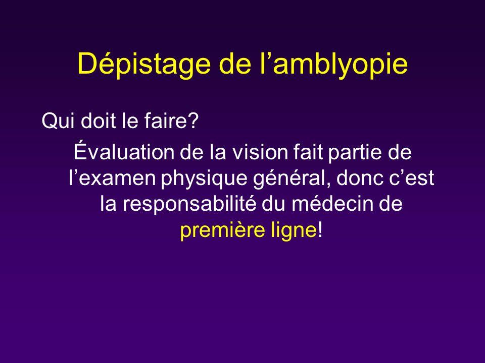 Dépistage de l'amblyopie