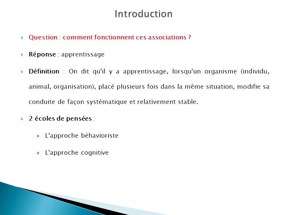 Introduction Question : comment fonctionnent ces associations