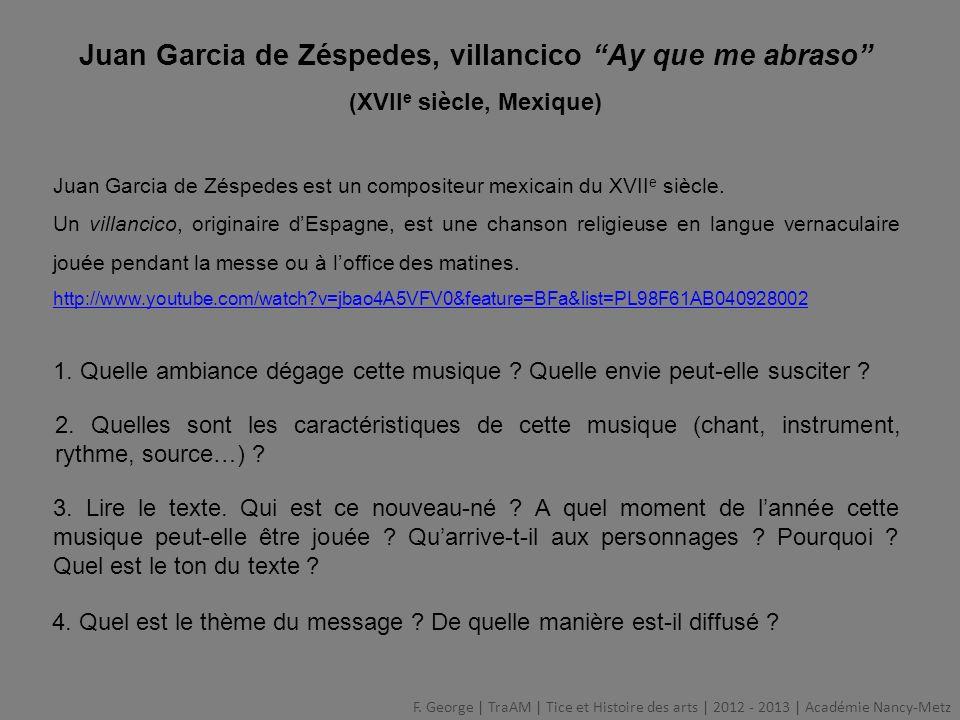Juan Garcia de Zéspedes, villancico Ay que me abraso