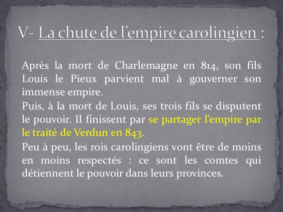 V- La chute de l'empire carolingien :