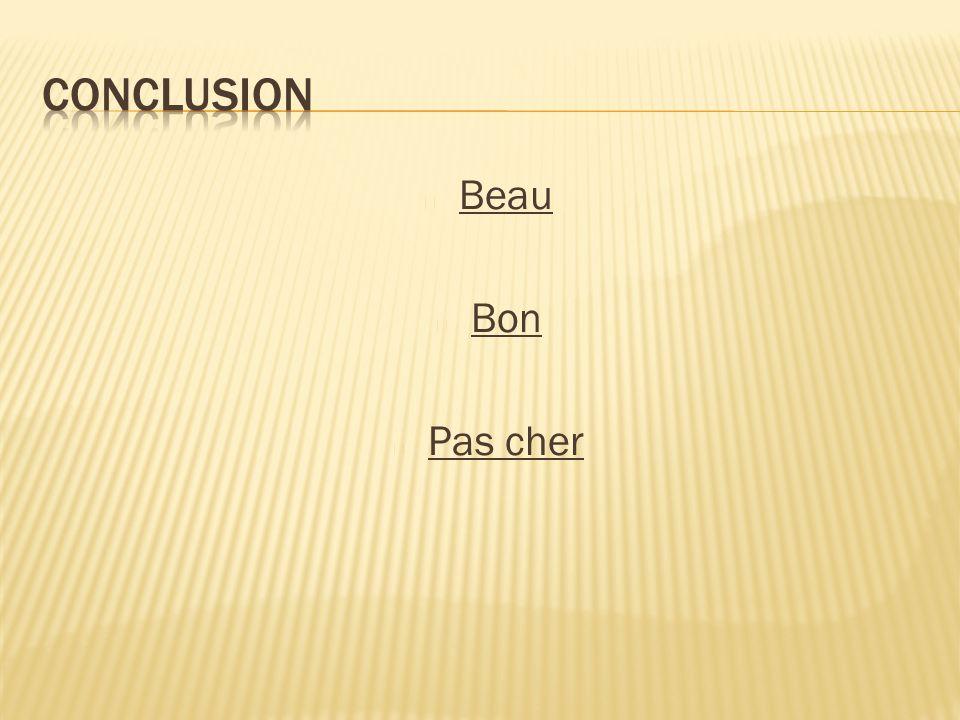 Conclusion Beau Bon Pas cher