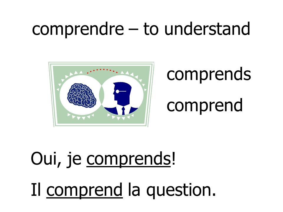 comprendre – to understand
