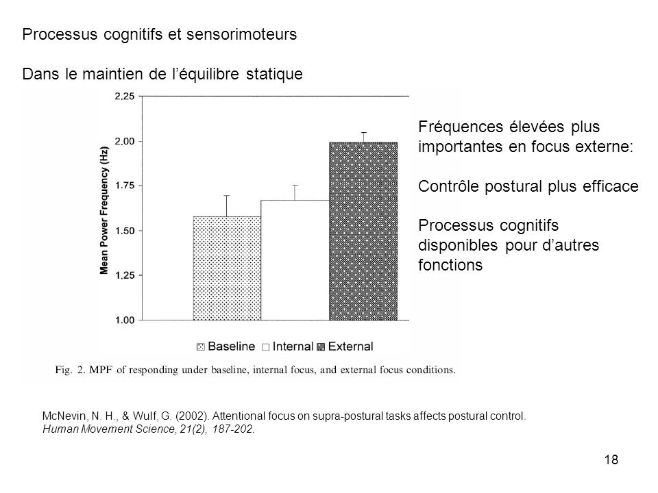 Processus cognitifs et sensorimoteurs