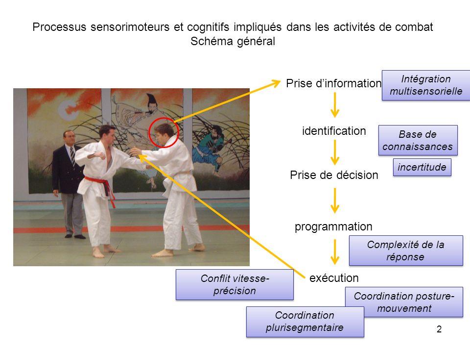 Processus sensorimoteurs et cognitifs impliqués dans les activités de combat