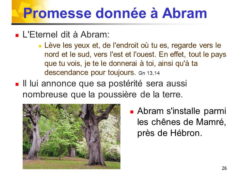 Promesse donnée à Abram