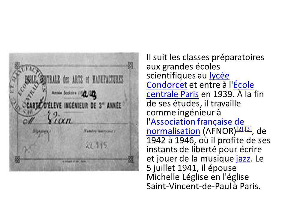 Il suit les classes préparatoires aux grandes écoles scientifiques au lycée Condorcet et entre à l École centrale Paris en 1939.