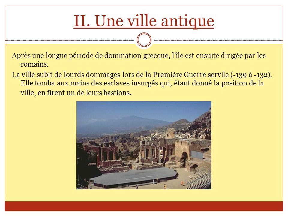 II. Une ville antique