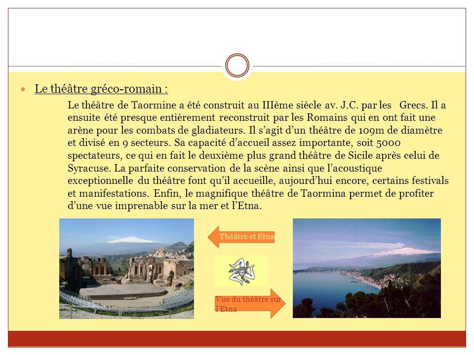 Le théâtre gréco-romain :
