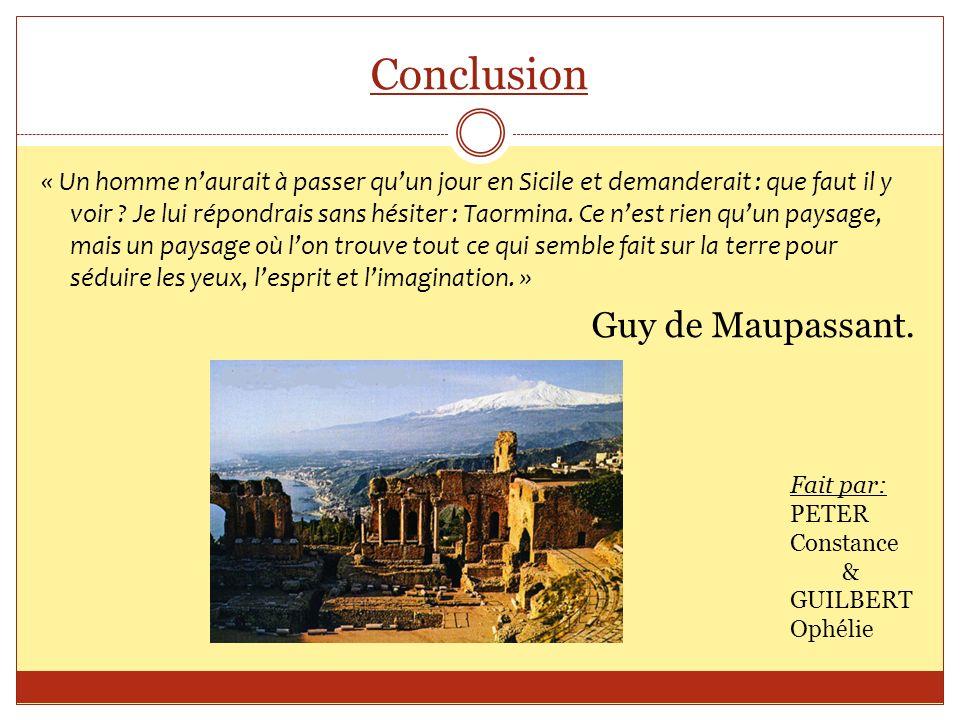 Conclusion Guy de Maupassant.