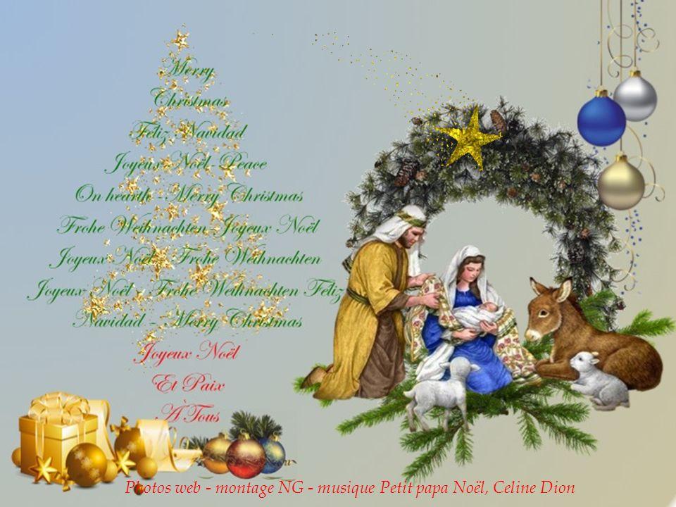 Photos web - montage NG - musique Petit papa Noël, Celine Dion