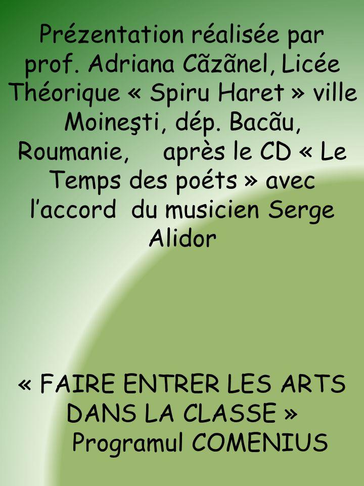 « FAIRE ENTRER LES ARTS DANS LA CLASSE »