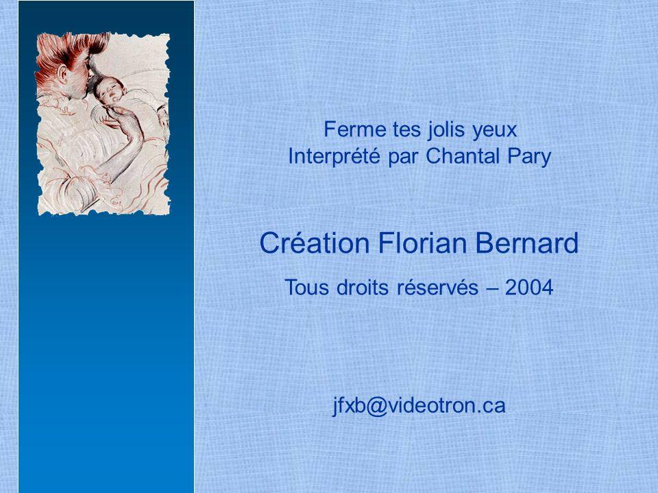 Création Florian Bernard