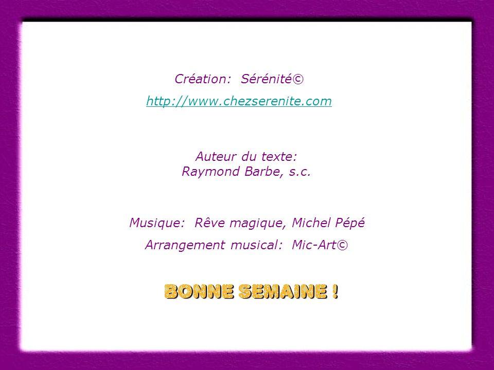 Auteur du texte: Raymond Barbe, s.c.