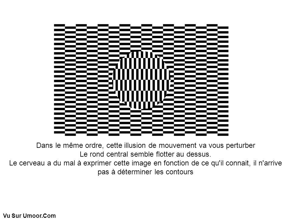 Dans le même ordre, cette illusion de mouvement va vous perturber