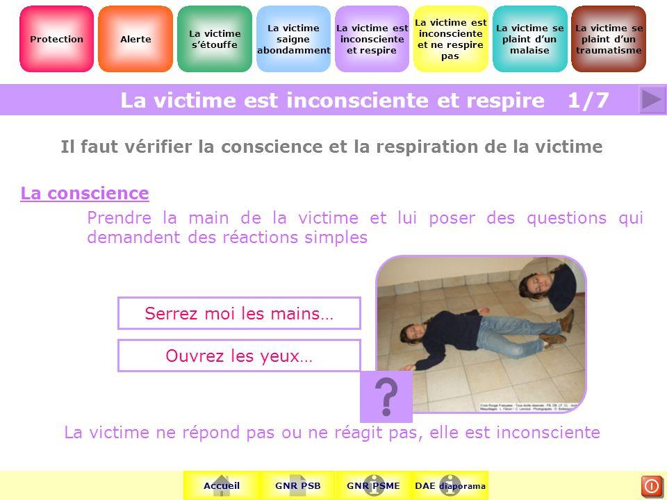 Il faut vérifier la conscience et la respiration de la victime