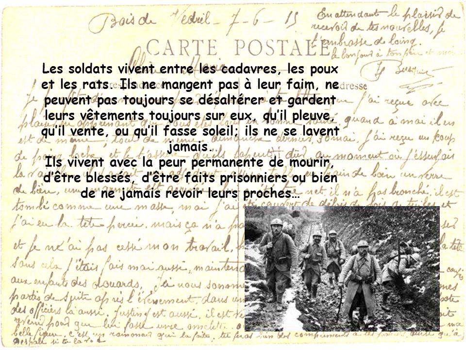 Les soldats vivent entre les cadavres, les poux et les rats