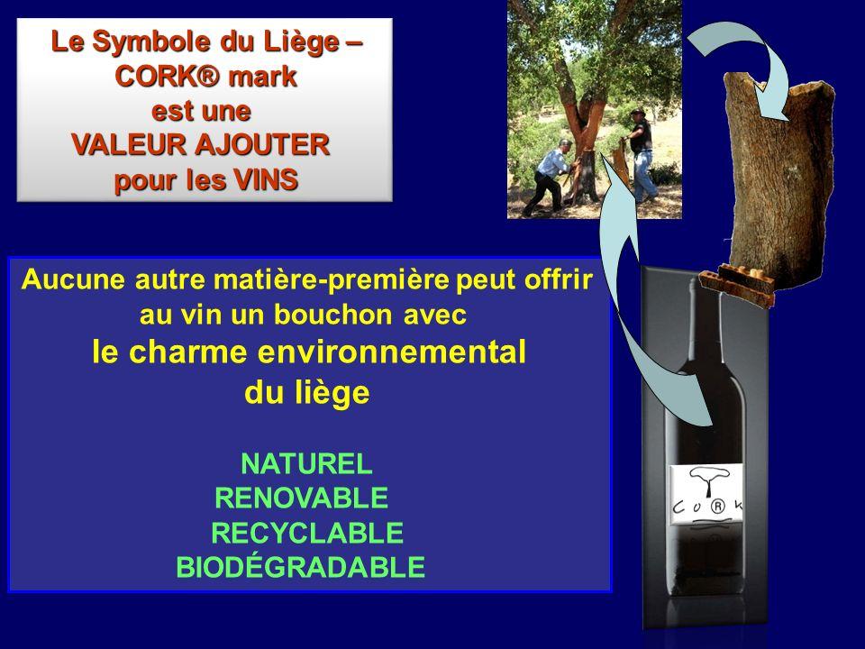 du liège Le Symbole du Liège – CORK® mark est une VALEUR AJOUTER