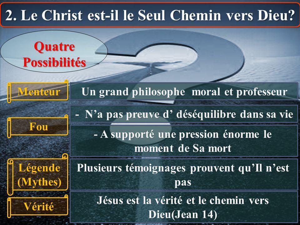 2. Le Christ est-il le Seul Chemin vers Dieu
